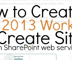 How to Create Sites with an SPD 2013 Workflow