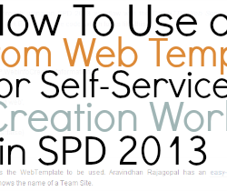 How to Use a Custom Web Template