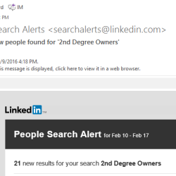 Using LinkedIn Search Alerts
